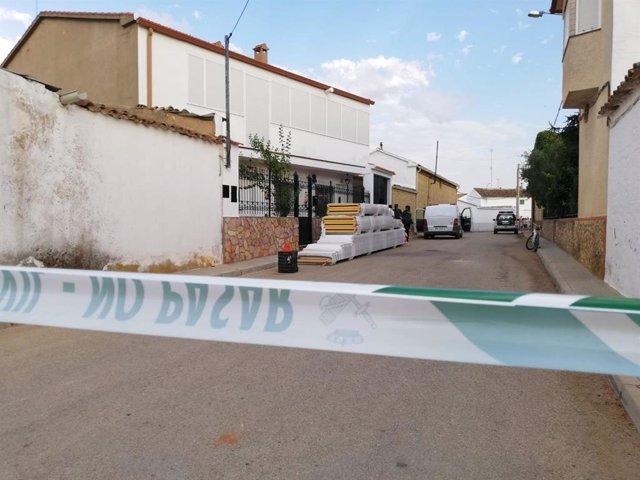 Calle Cuenca de Casas de Benitez donde se han producido dos muertes por arma de fuego