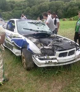 Uno de los vehículos del Rallysprint de Miengo