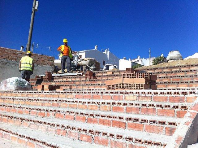 Obras, obreros, albañil, trabajo, Málaga