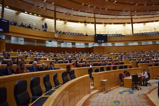 Imagen de un Pleno del Senado en la pasada legislatura