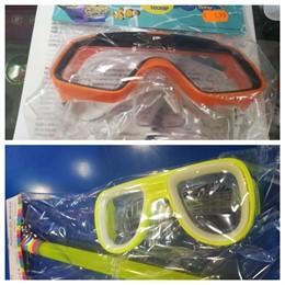 Imágenes de los modelos de gafas de buceo retirados por la Inspección de Consumo.