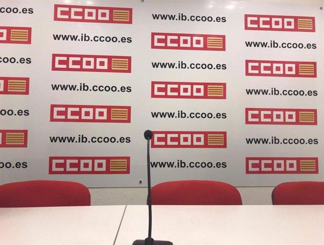 Imagen de recurso de CCOO, sala de prensa, archivo