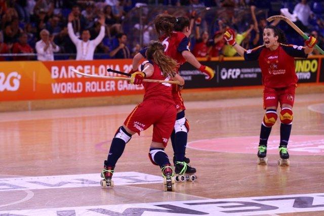 La selección española femenina de hockey patines se proclama campeona del mundo