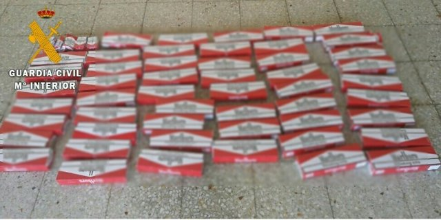 Tabaco falsificado intervenido por la Guardia Civil durante los Sanfermines.