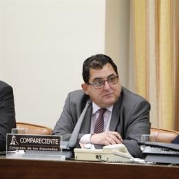 El secretario de Estado para la Unión Europea, Luis Marco Aguiriano, comparece en Comisión de Asuntos Exteriores en el Congreso de los Diputados