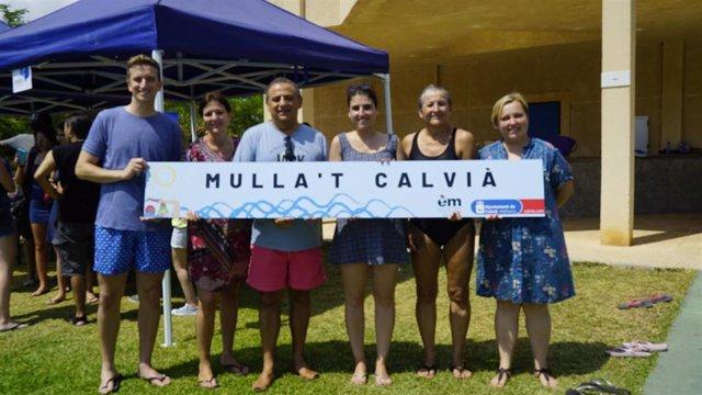 Imagen de la campaña 'Mulla't' por la esclerosis múltiple en Calvià.