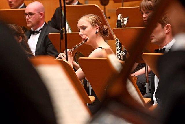 Jóvenes músicos participantes en el Encuentro de Música y Academia de Santander