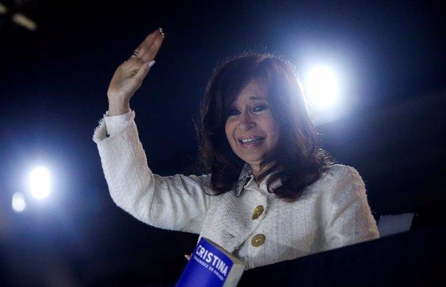 La candidata a la vicepresidencia de Argentina Cristina Fernández de Kirchner