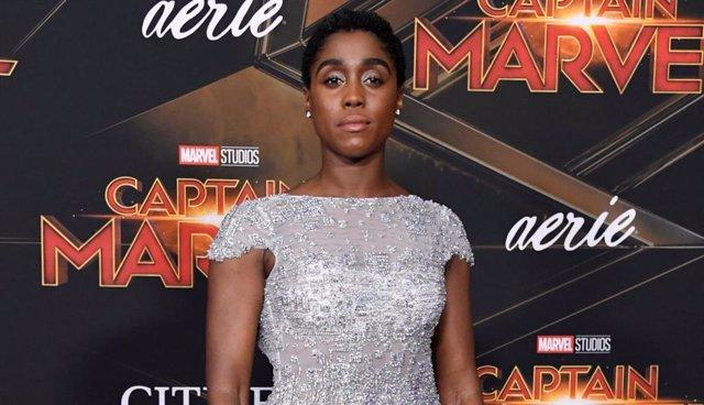 Lashana Lynch en la presentación de Capitana Marvel