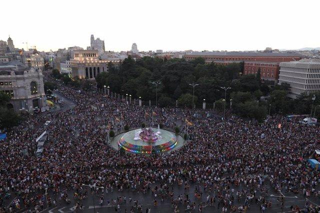Manifestación estatal del Orgullo LGTBI en Madrid