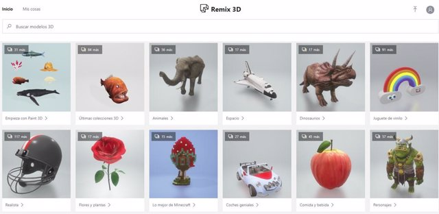 Página principal de Remix3D.Com
