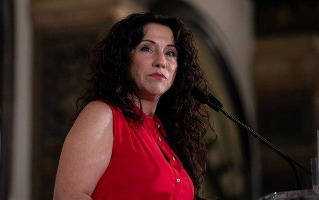 La consejera de Igualdad, Políticas Sociales y Conciliación, Rocío Ruiz, en el desayuno informativo de Fórum Europa Tribuna Andalucía de este lunes.