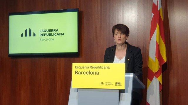 La regidor d'ERC a l'Ajuntament de Barcelona Eva Baró.