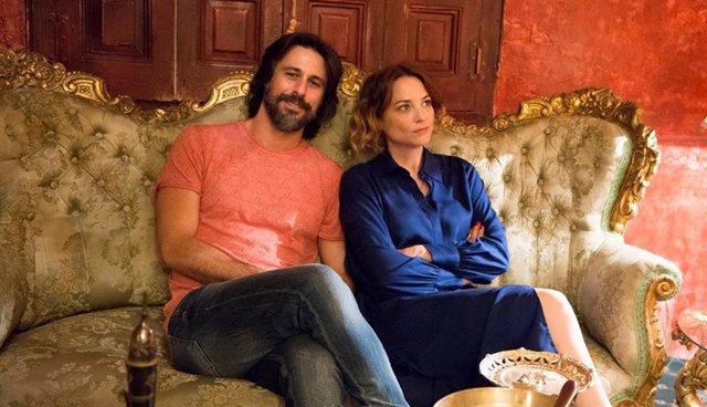 Hugo Silva y Leonor Watling durante el rodaje de 'Nasdrovia'