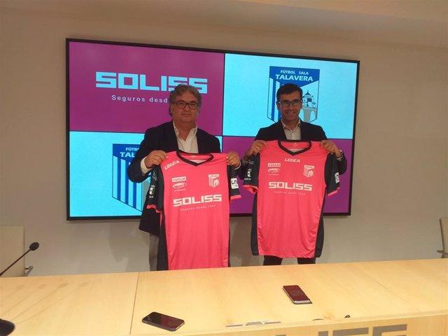 Renovación del convenio de colaboración entre el Fútbol Sala Talavera y Soliss Seguros