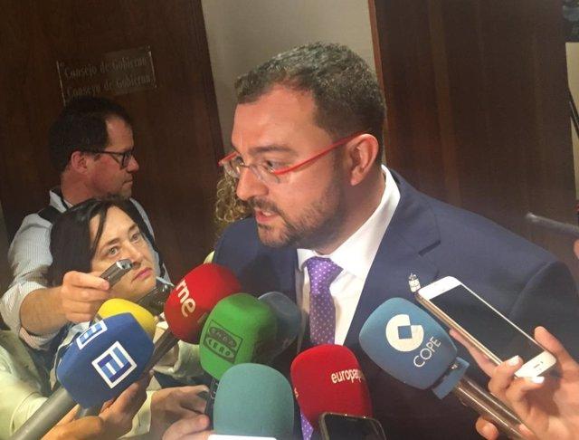 Adrián Barbón, presidente electo del Principado de Asturias