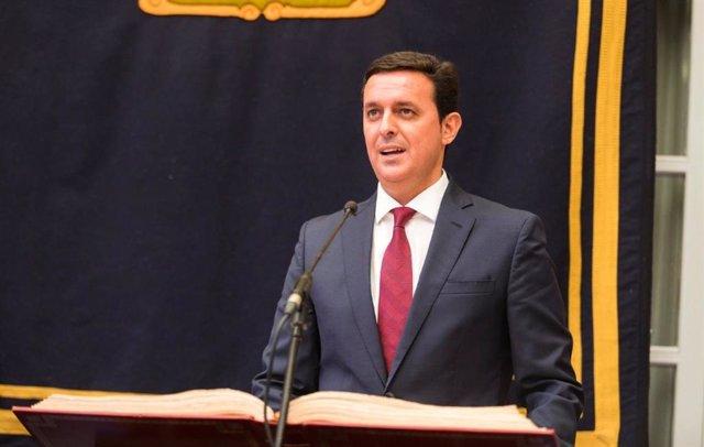 El presidente de la Diputación de Almería, Javier Aureliano García