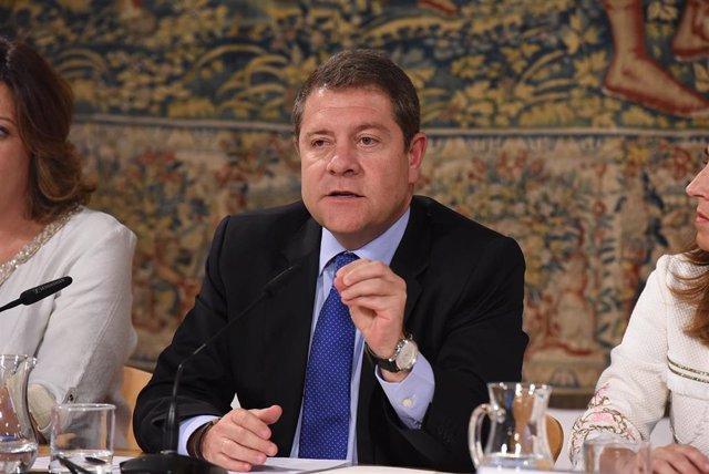 El presidente de Castilla-La Mancha, Emiliano García-Page, habla del presupuesto regional.