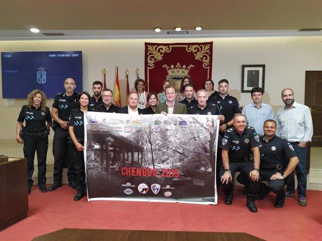 Agentes albaceteños que competirán en los Juegos Mundiales de Policía y Bomberos que se celebran en Chengdu (China).