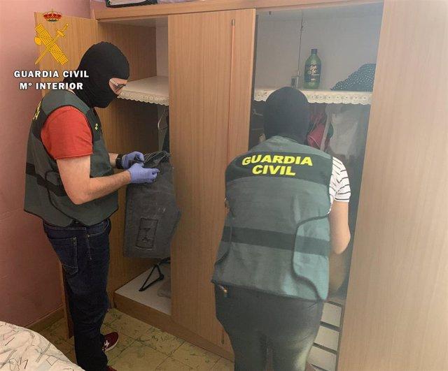 Registro de la Guardia Civil en el marco de la Operación 'Retour'