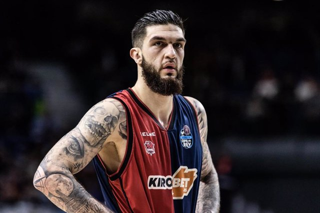 Vincent Poirier, #17 of KIROLBET Baskonia during the Copa del Rey ACB match between KIROLBET Baskonia and Divina Seguros Joventut at WiZink Center Arena, in Madrid, Spain. February 15, 2019.