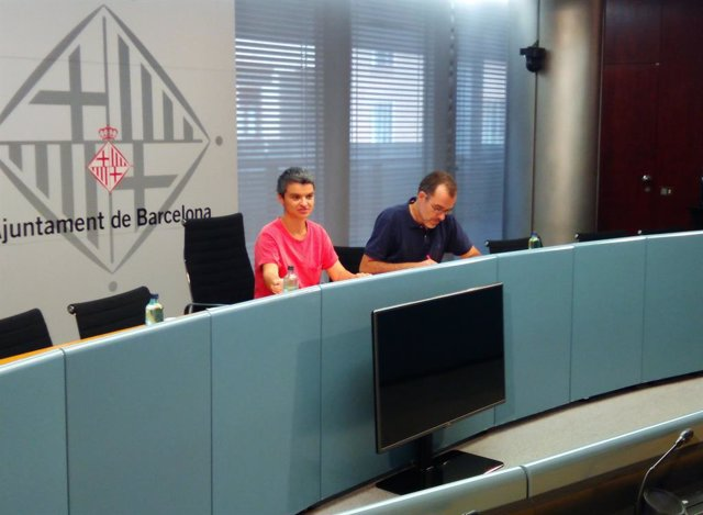 Lucía Martín i Jordi Rabassa, regidors de l'Ajuntament de Barcelona