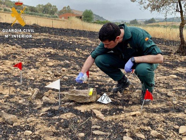 La Guardia Civil investiga las causas de un incendio