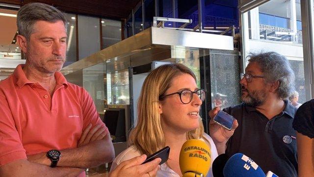 Els regidors de JxCat a l'Ajuntament de Barcelona Jordi Martí i Elsa Artadi.