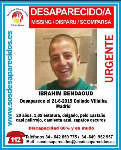 Buscan a un joven de 20 años mudo desaparecido desde junio en Collado Villalba