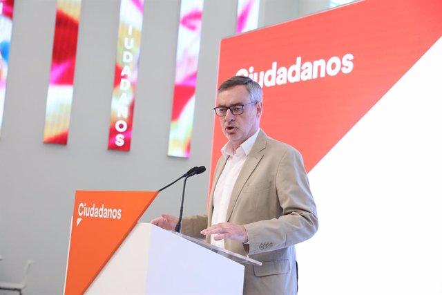 El secretari general de Ciudadanos, José Manuel Villegas, ofereix una roda de premsa després de la reunió del Comit Permanent del partit.