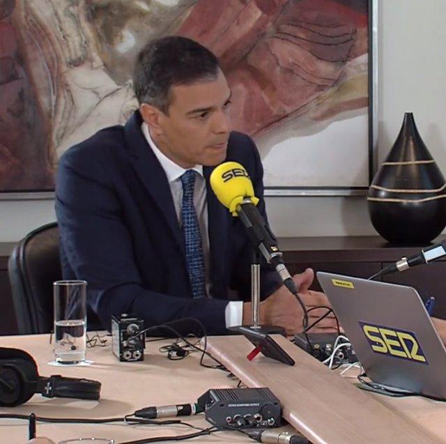 Entrevista en la Cadena Ser al presidente del Gobierno en funciones, Pedro Sánchez