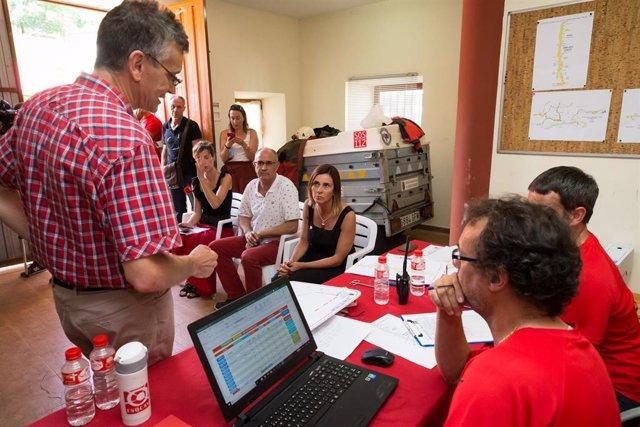 Paula Fernández sigue el dispositivo de búsqueda de las tres espeleólogas en Coventosa