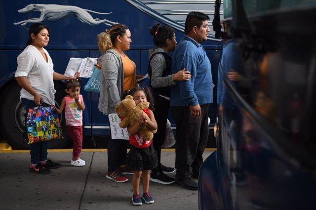 Inmigrantes en McAllen, Texas