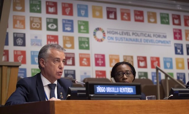 El lehendakari, Iñigo Urkullu, durante su participación en el High Level Political Forum (HLPF) 2019 de Naciones Unidas