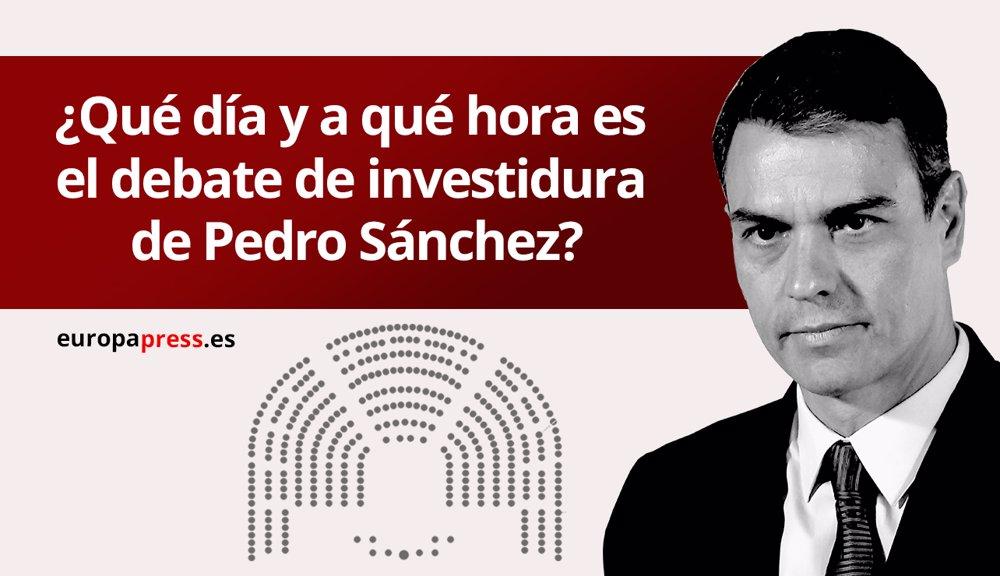 Horario y dónde ver el debate de investidura de Pedro Sánchez