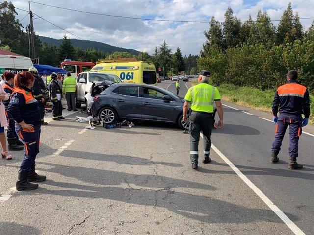 Accidente en Cuntis (Pontevedra) ocurrido en la tarde de este domingo