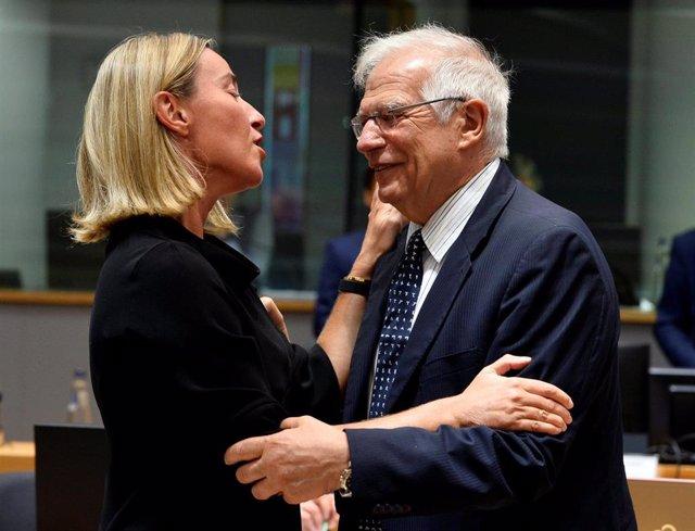 Borrell y Mogherini en Bruselas