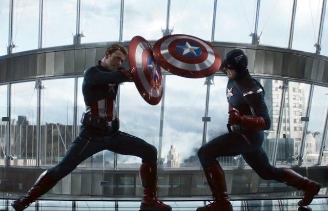 Capitán América vs. Capitán América en Vengadores: Endgame
