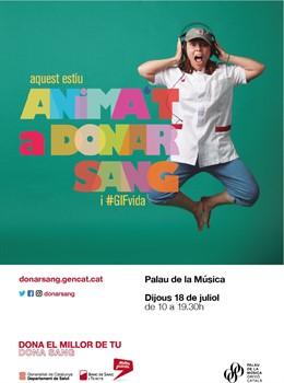 Poster donació de sang en el Palau de la Música Catalana
