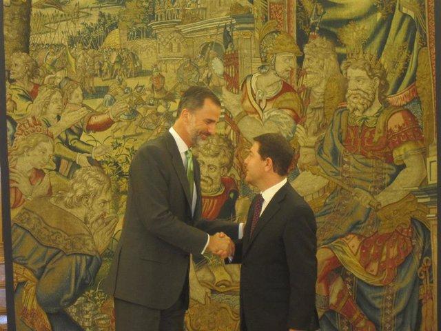 El Rey Felipe VI recibe en audiencia a Emiliano García-Page