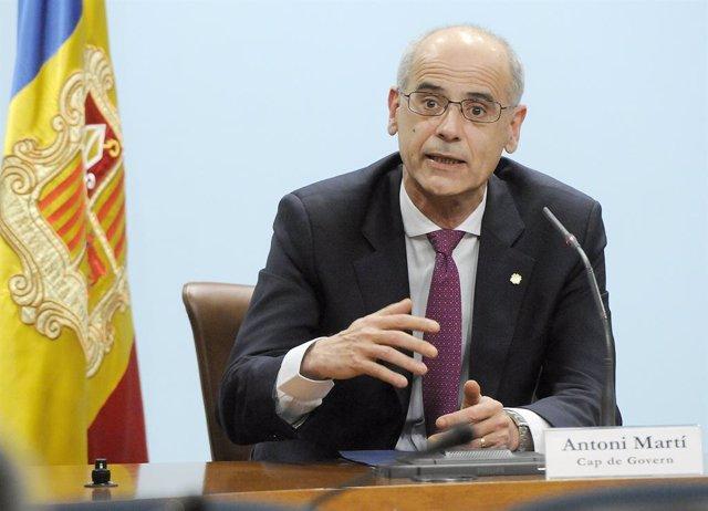 L'ex-cap del Govern d'Andorra, Toni Martí (Arxiu)