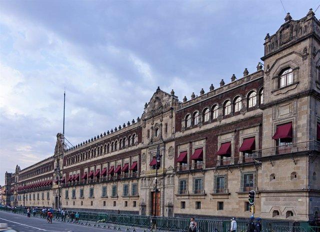 Vista exterior del Palacio Nacional de México