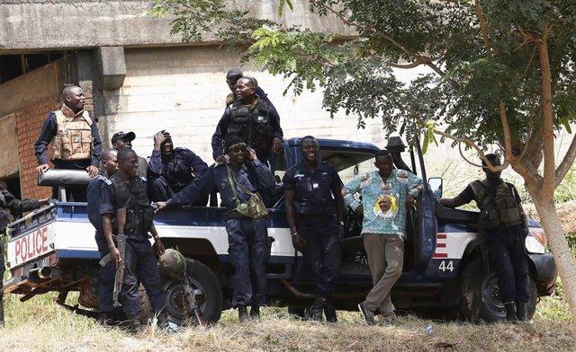 Policía en Bangui, República Centroafricana