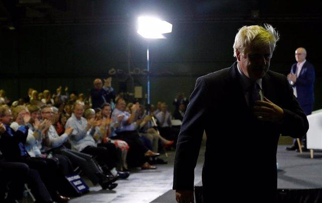 El candidato conservador a primer ministro Boris Johnson