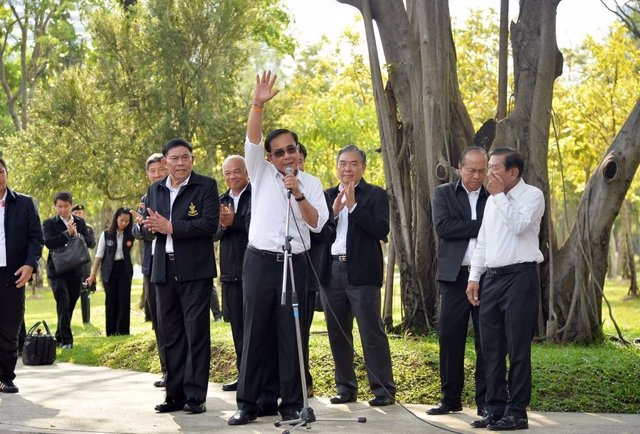 El general Prayuth Chan Ocha en un acto vestido de civil