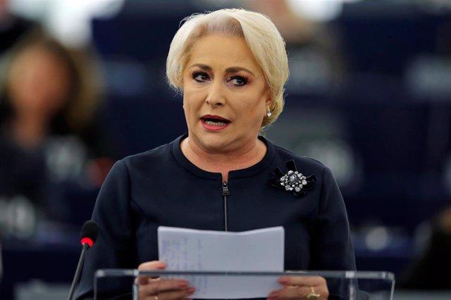 La primera ministra de Rumanía, Viorica Dancila