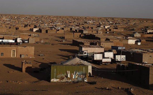 Campamento de refugiados saharauis en Tinduf, Argelia