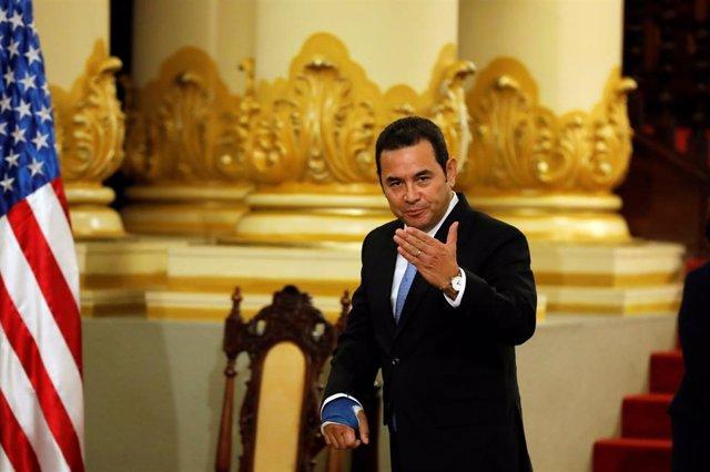 El presidente de Guatemala, Jimmy Morales