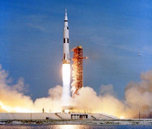 Despegue de la misión Apolo 11 el 16 de julio de 1969