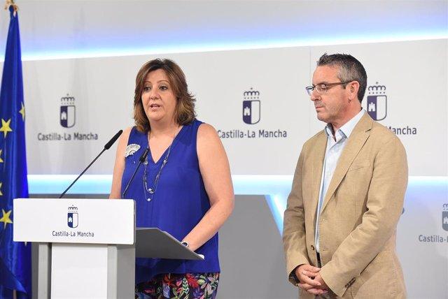 La consejera de Empleo de C-LM, Patricia Franco, en rueda de prensa.